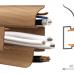 Плинтус с кабель-каналом 58 мм Дуб Летний