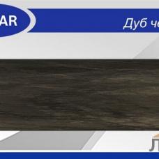 Плинтус с кабель-каналом 58 мм Дуб Черненый